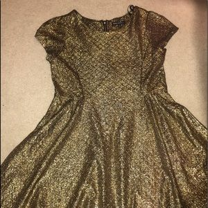 brand new gold dress